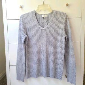 Merona sweater size L gray V neck long sleeve